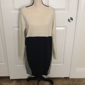 French Connection sweater dress color block